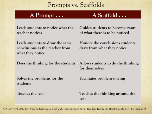 Prompt vs. Scaffold 2