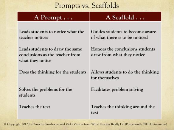 Prompt vs. Scaffold 2