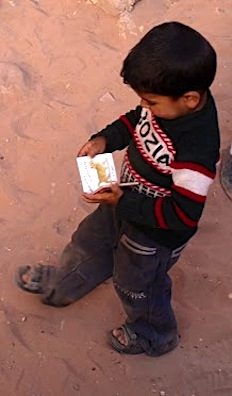 The Gift of Books (Boy Walking)