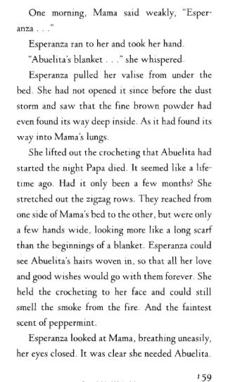 Esperanza Rising excerpt