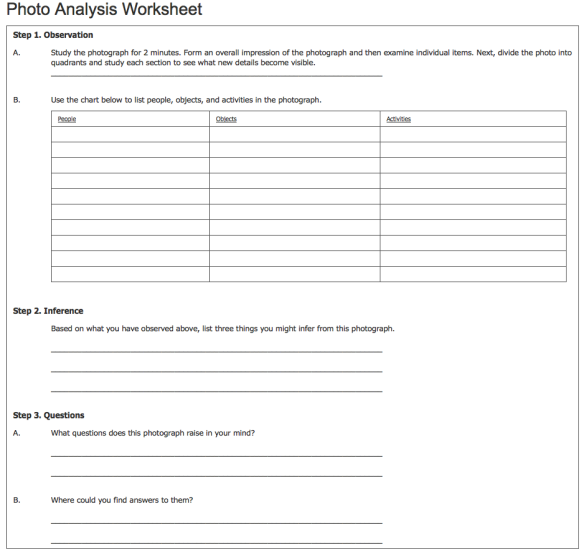 National Archives Worksheet