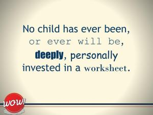 No Child Has Ever Worksheet