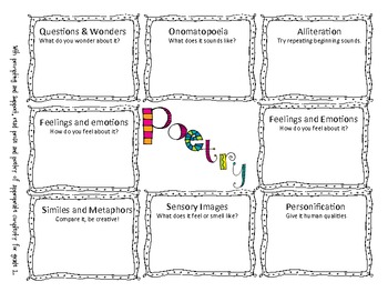 Poetry Worksheet
