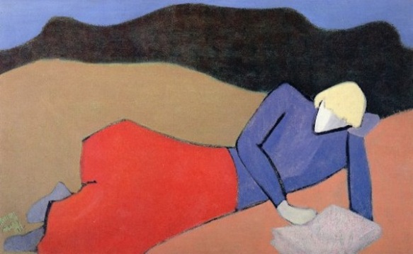 Milton Avery Reclining Reader