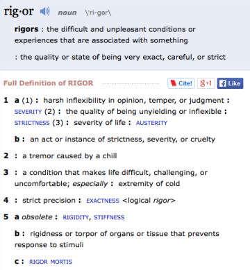 Rigor Definition