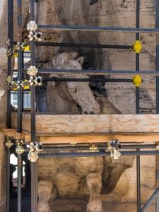 Bernini's fountain of the four rivers, Piazza Navona, Rome, Ital