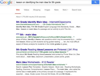 Main Idea Google Search