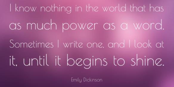 Dickinson on Words