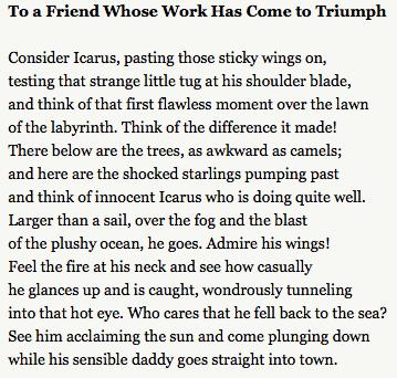 Sexton Icarus Poem