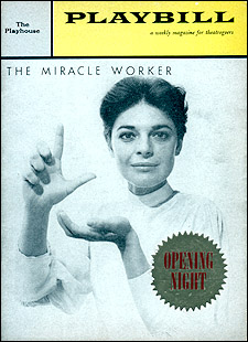 The Miracle Worker Playbill